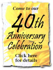 Come to our 40th Anniversary Celebration