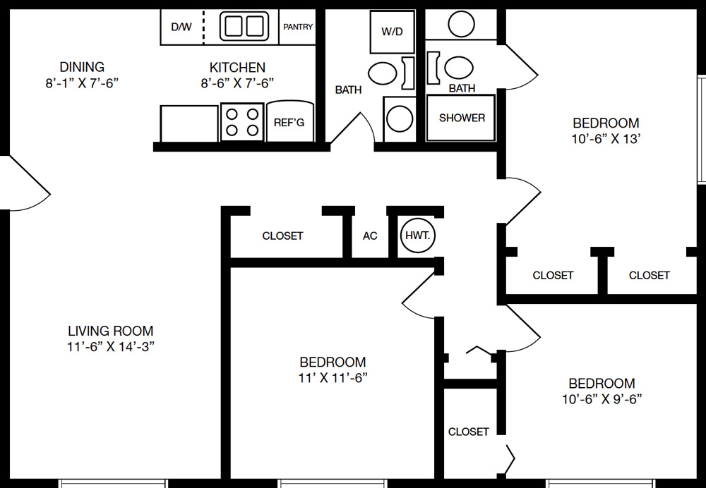 Floorplans Spanish Cove: program for floor plans
