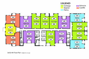 Spanish Cove Floor Plans for the new Phase 2 Independent Living Building.
